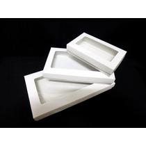 Caja De Cartulina Blanca Para 1/2kg De Bombones