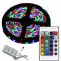 Tira Led Rgb Color 5 Mt Kit Completo Trafo + Control + Fuent