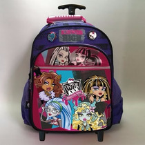 Mochila Monster High Con Carro Dm508