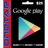 Tarjeta Google Play Store Card 25 Usd Usa - Onetap Store