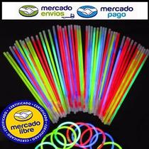 Tubo X 50 Pulseras Quimicas Neon Luminoso Varios Colores