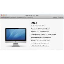 Imac 21.5 I5 Intel 1tb 8gb