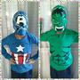 Hulk Camiseta Disfraz Super Heroe Capucha Mascara