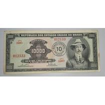 Brasil Billete De 10000 Cruzeiros Resellado 10 Nuevos