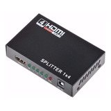 Splitter Hdmi Activo 1x4 Tv Led Lcd 3d Version 1.4 1080p Hd