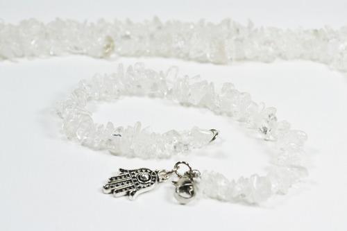 7ad61547211e Pulsera Piedras Naturales De Cuarzo Cristal 7 Chackras