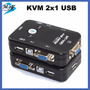 Switch Kvm Vga Usb 2x1 Puerto Para Impresora Nuevo Modelo