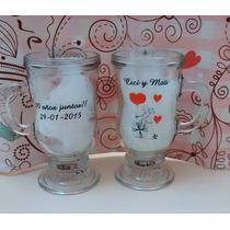 Souvenirs Tazas Vidrio Capuccino Casamiento, 15 Años. Mates