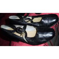 Zapatos Baile Folklore Jazz Nº36-cuero-suela