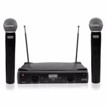 Microfono Proco Inalambrico De Mano Profesional Dv2 Set X2 *