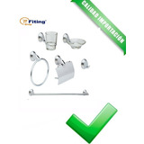 Set Kit Accesorios Para Baño 6 Piezas Cromo 1601 Fiting Shop