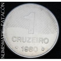 Moneda De Brasil 1 Cruzeiro 1980 - Muy Bueno