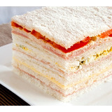 Sandwiches Triples De Miga De Jamon Y Queso