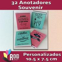 32 Souvenirs Anotador Libreta Personalizada Elegí Tu Diseño!