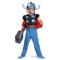 Disfraz Musculos Thor Iron Man Escuadron De Superheroes