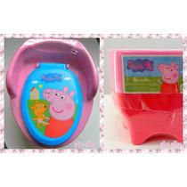 Pelela 3 En 1 Peppa Pig Para Nenas Escalon Adaptador Inodoro