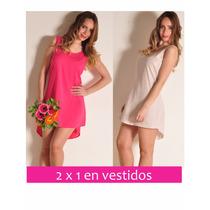 2x1 Vestido Fucsia + Rosa Summer Sale Talles Xs S M L Giacca