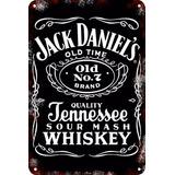 Carteles Antiguos Chapa Vintage Jack Daniels 22.5x15cm Dr-73