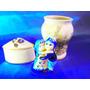 El Arcon Lote De 3 Adornos De Porcelana Figura Delf 14111