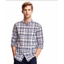 Camisa Mangas Largas Old Navy Slim Fit Clasica Xl Lino