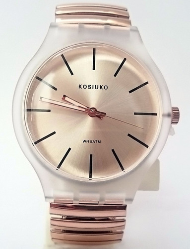 98b839e80808 35% Off- Reloj Kosiuko Resolution Correa Elastizada Oro Rosa  2199 ...