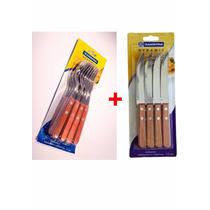 Set Pac 12 Cuchillos + 12 Tenedores Tramontina Madera Dynami