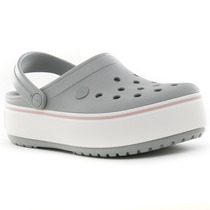 Sueco Crocband Platform Grey Crocs Blast Tienda Oficial