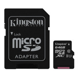 Micro Sd Kingston Hd 64gb Tarjeta Memoria Clase 10 Original