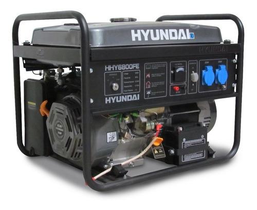 Generador Portátil Hyundai Hhy6800fe 5500w Monofásico 127v