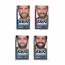 Gel Just For Men Barba Bigote Cubre Canas Castaño Tintura