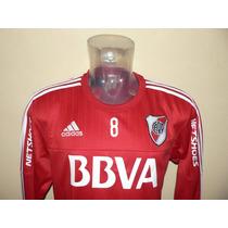Buzo Adidas River Plate Rojo 2016 (con Publicidades)