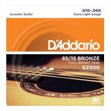 Encordado Guitarra Acustica 010 Daddario Ez900 Cuerdas