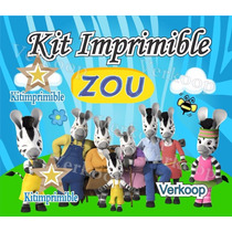 Kit Imprimible Zou La Cebra Candy Bar Cumples Y Mas