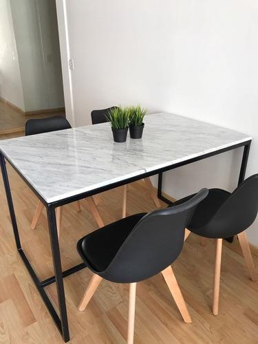 Mesa Comedor De Marmol Carrara Estructura Hierro 1,3 X 0.8 - $ 19500 ...