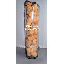 3 Cinzanos De Vidrio,probetas,cilindros, Tubos,7x25.5 De Alt