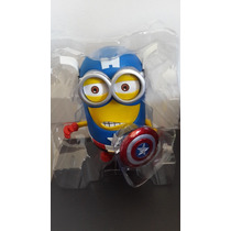 Minion Despicable Me 2 3d Coleccionable Capitan America