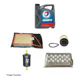Kit 4 Filtros +aceite Total 7000 Original Peugeot 208 Nafta