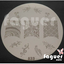 Disco Para Stamping Grande, Decoracion Uñas. Faguer Nails