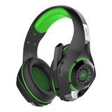 Auriculares Gamer Nisuta Nsaug300 Negro Y Verde