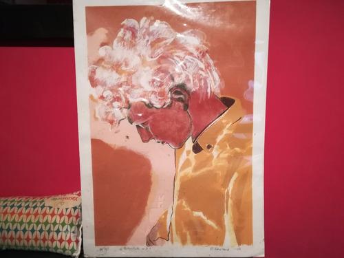 Pintura Grabado De Etienne Gontard: Contrarretrato De 2t
