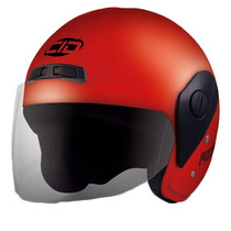 Casco Moto Cid Aero 2 Con Visor Color Rojo Nacional