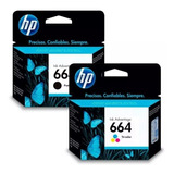 Combo Cartucho Hp 664 Negro + Color 1115 2135 3635 3835 4535