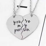 Collar You Are My Person Doble - Greys Anatomy - Amistad