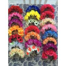 Divinas Vinchas De Flores X 17 Unidades