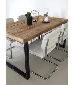 Mesa Comedor Living Rustica Hierro Y Madera 200x100 en venta en ...