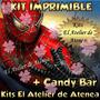 Kit Imprimible Spiderman Hombre Araña Candy Bar Golosina 2x1