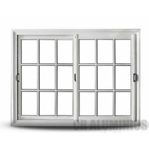 Ventana Aluminio Blanca (vidrio Repartido) 1.50 X 1.10