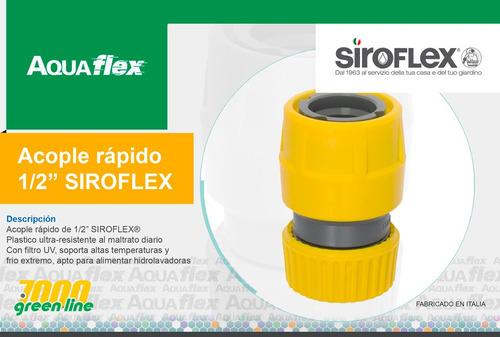 Acople Rapido Manguera De Riego 1/2' Siroflex 7450 Aquaflex
