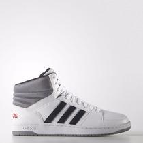 Zapatillas Adidas Neo Hoops Vs Mid Blanco/azul Marino