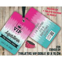560f6687050f Tarjetas Vip Invitaciones Vip 15 Años Doble Con Pulsera Vip en venta ...